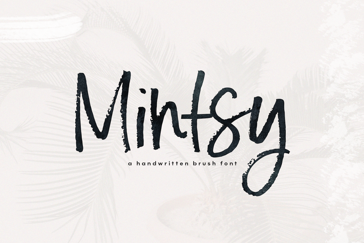 Mintsy - A Handwritten Brush Font example image 1