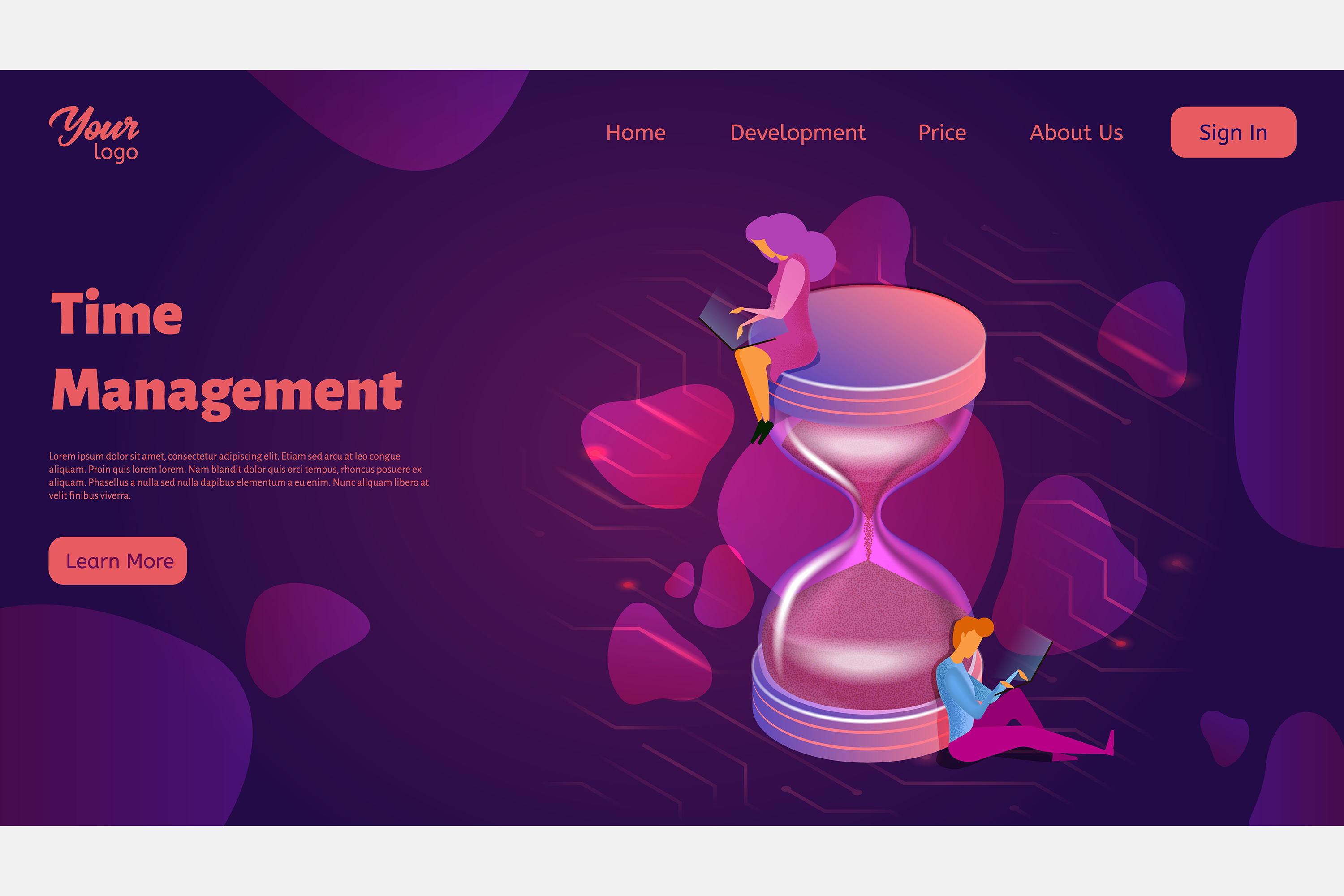 Time management. Landing page headers example image 8