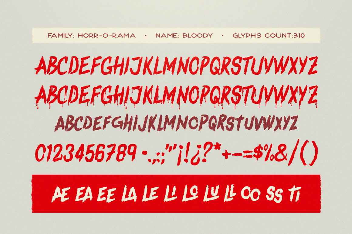 Bloody Scary Font example image 3
