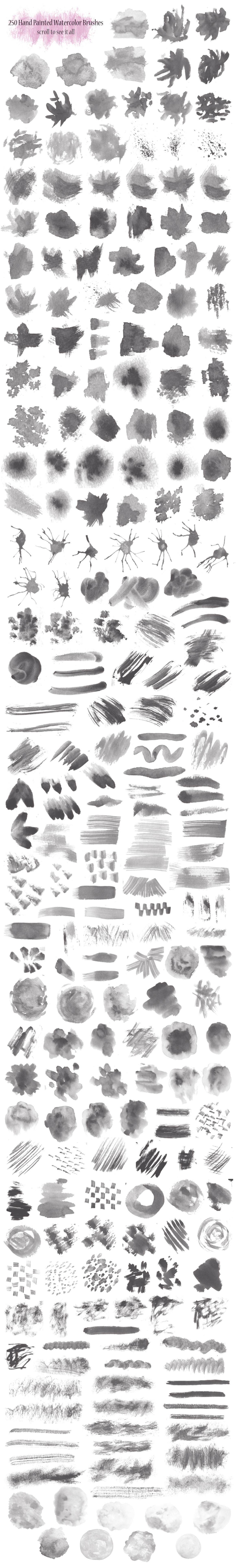 PS Watercolor Brush Kit 250 brushes example image 2