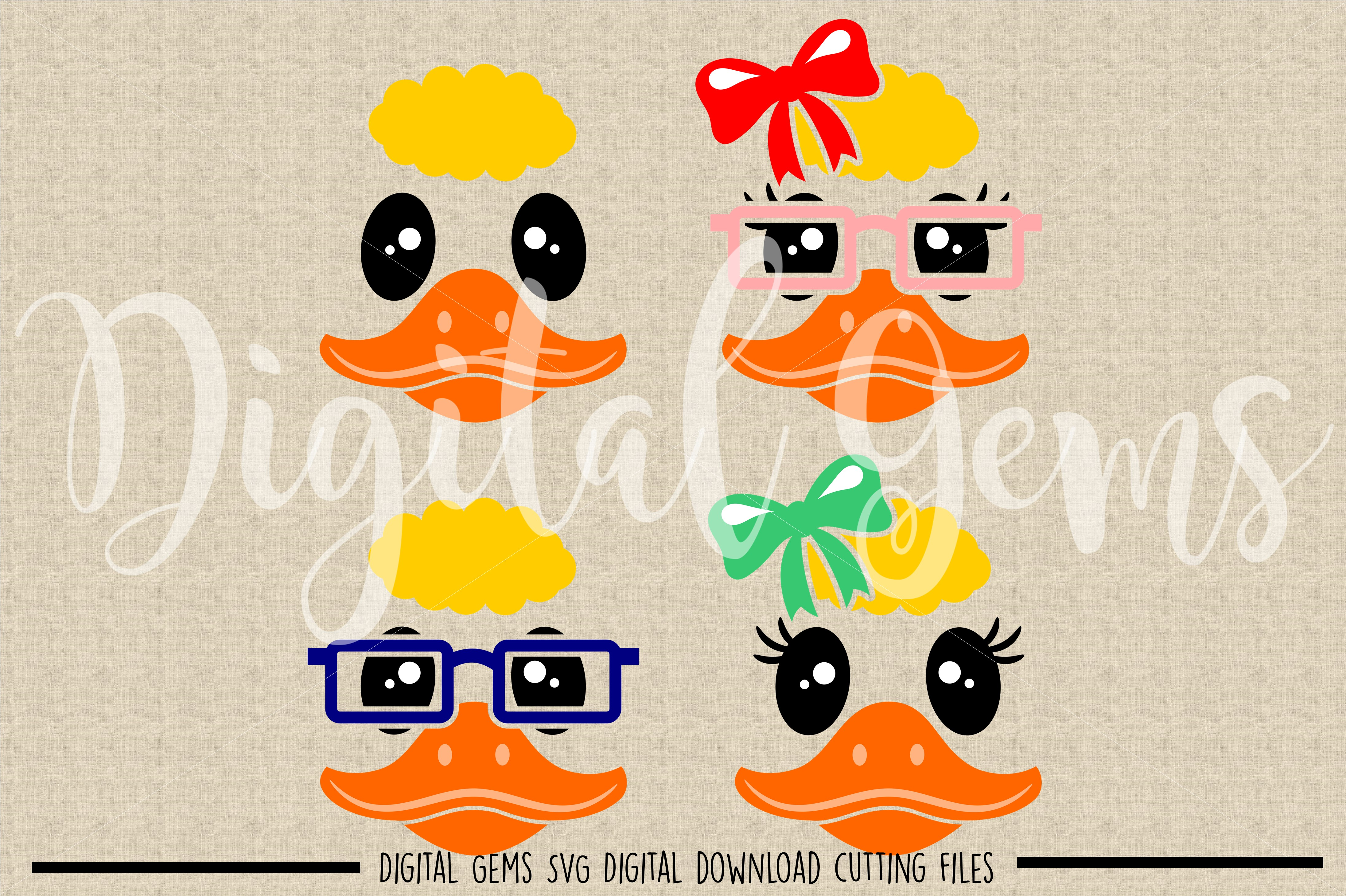 Duck Faces SVG / DXF / EPS / PNG files example image 2
