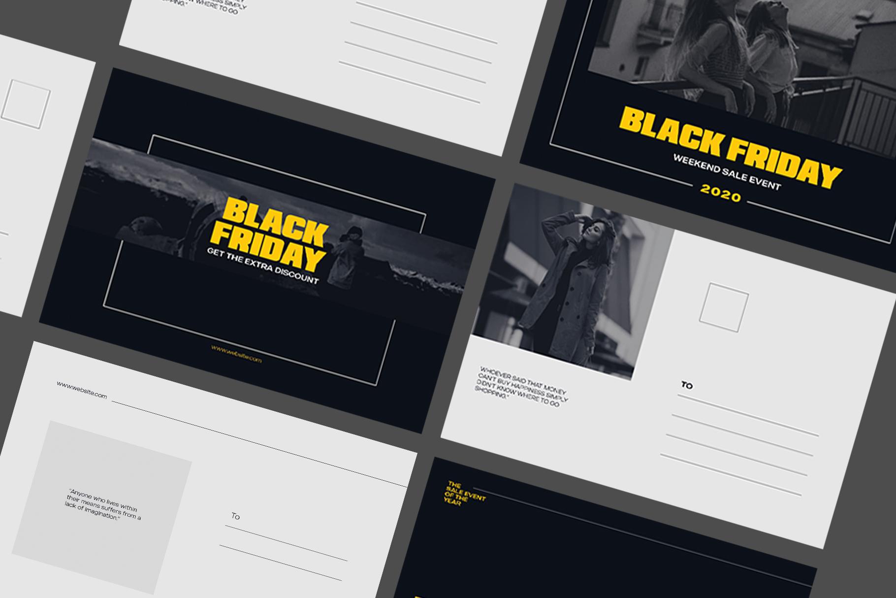 Black Friday Postcard example image 4