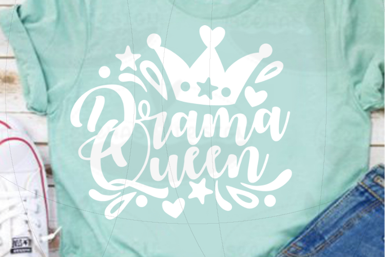 File Drama Queen for Cutting Laser Print SVG PDF EPS example image 4