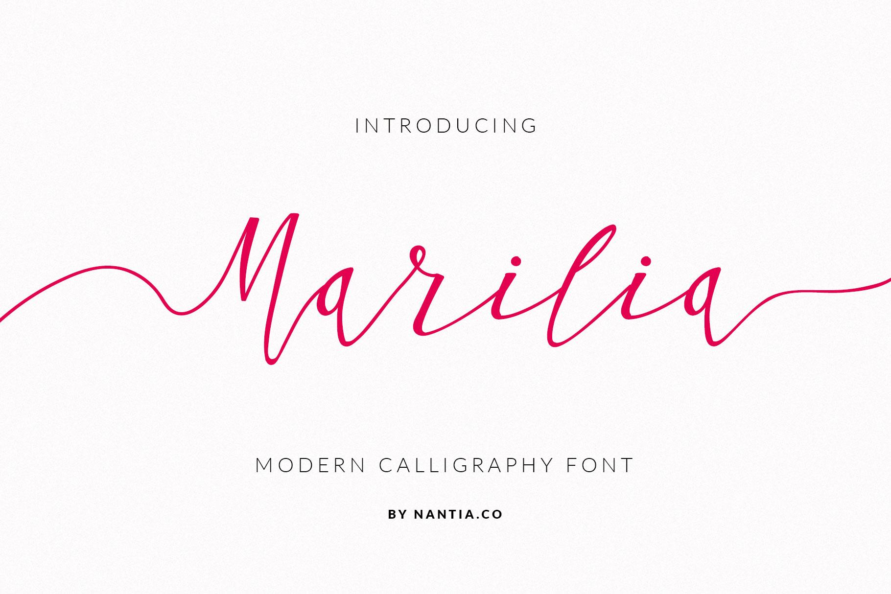 Script Font Calligraphy Marilia-Pro example image 1