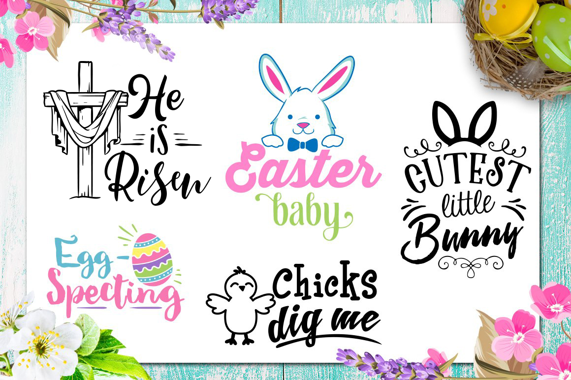 Easter Bundle - 30 Easter SVG files Bundle Easter SVG file example image 4