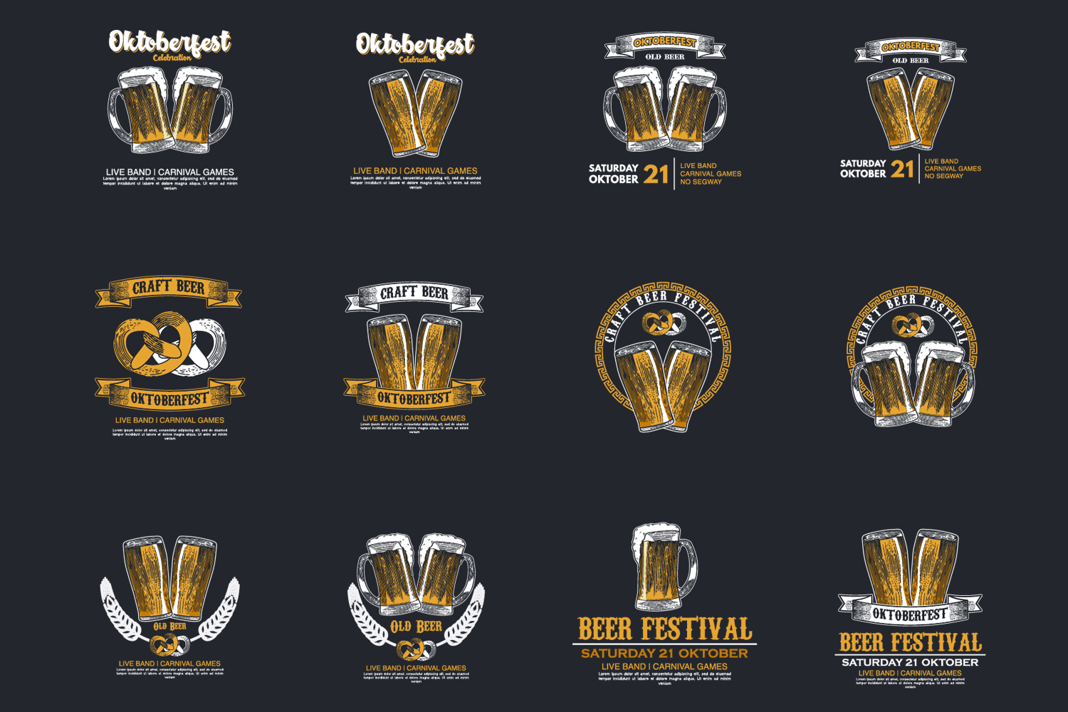 24 Hand drawn vector illustration of Beer example image 4