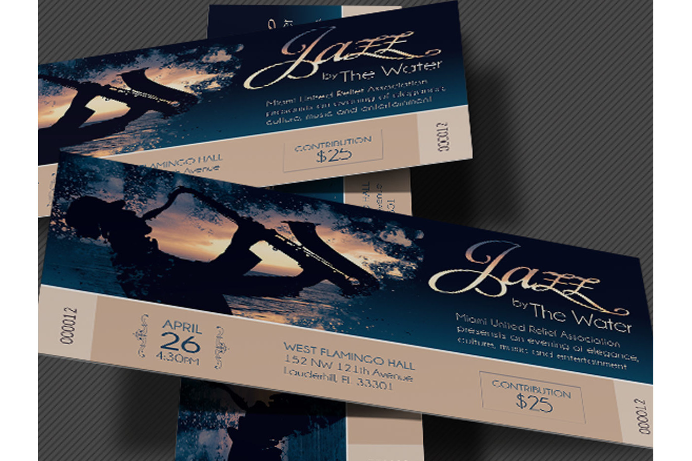 Jazz Concert Event Ticket Template example image 3