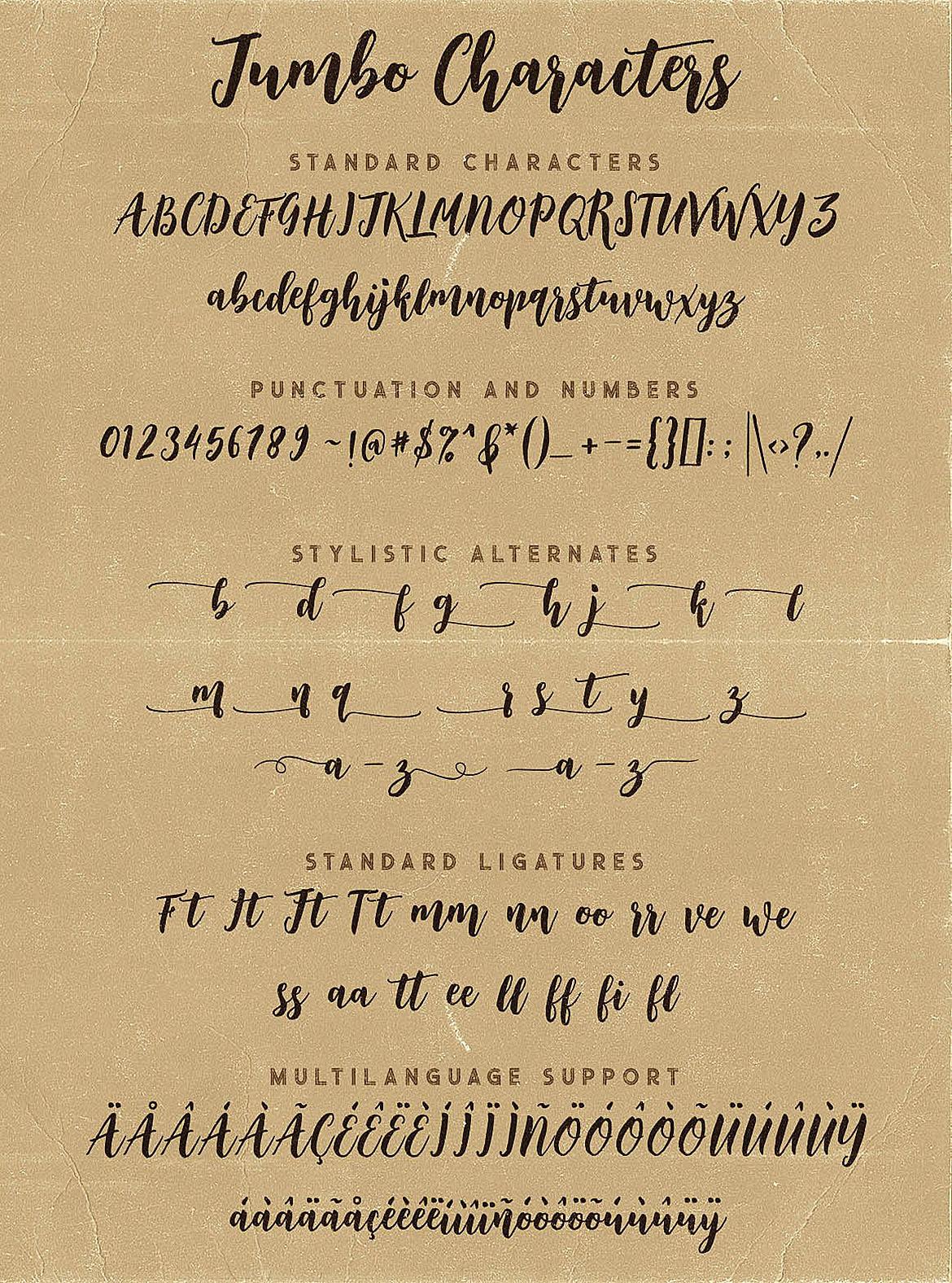 Jumbo Font Trio example image 10