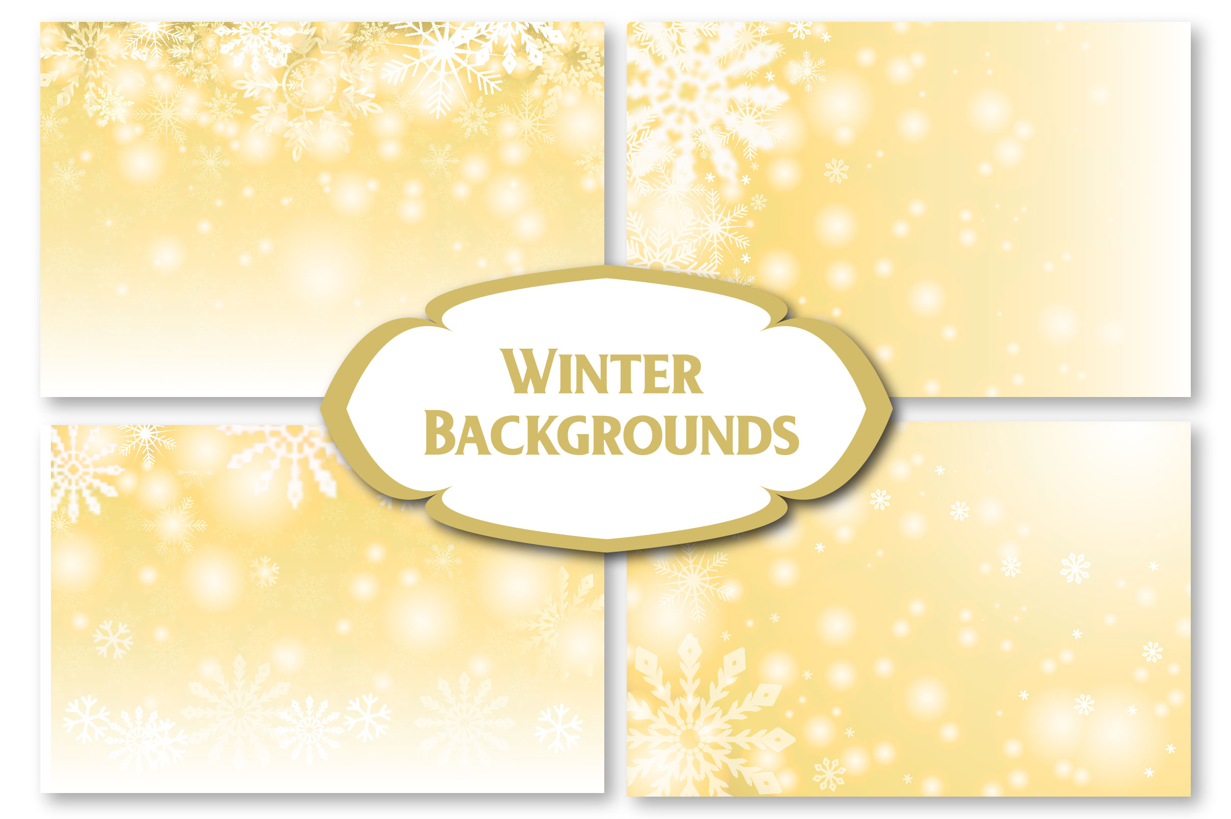 Winter Golden Backgrounds example image 5