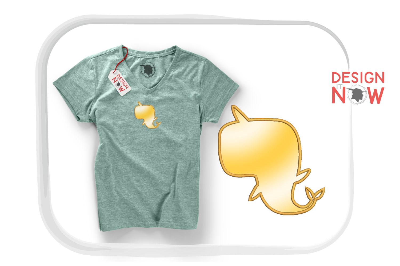 Unicorn Dolphin Applique Embroidery Design, Unicorn example image 5