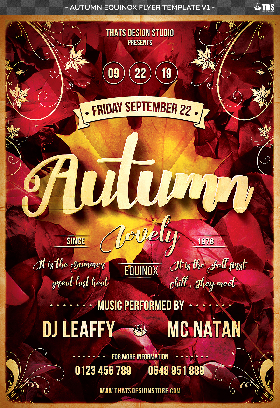 Autumn Equinox Flyer Template V1 example image 7