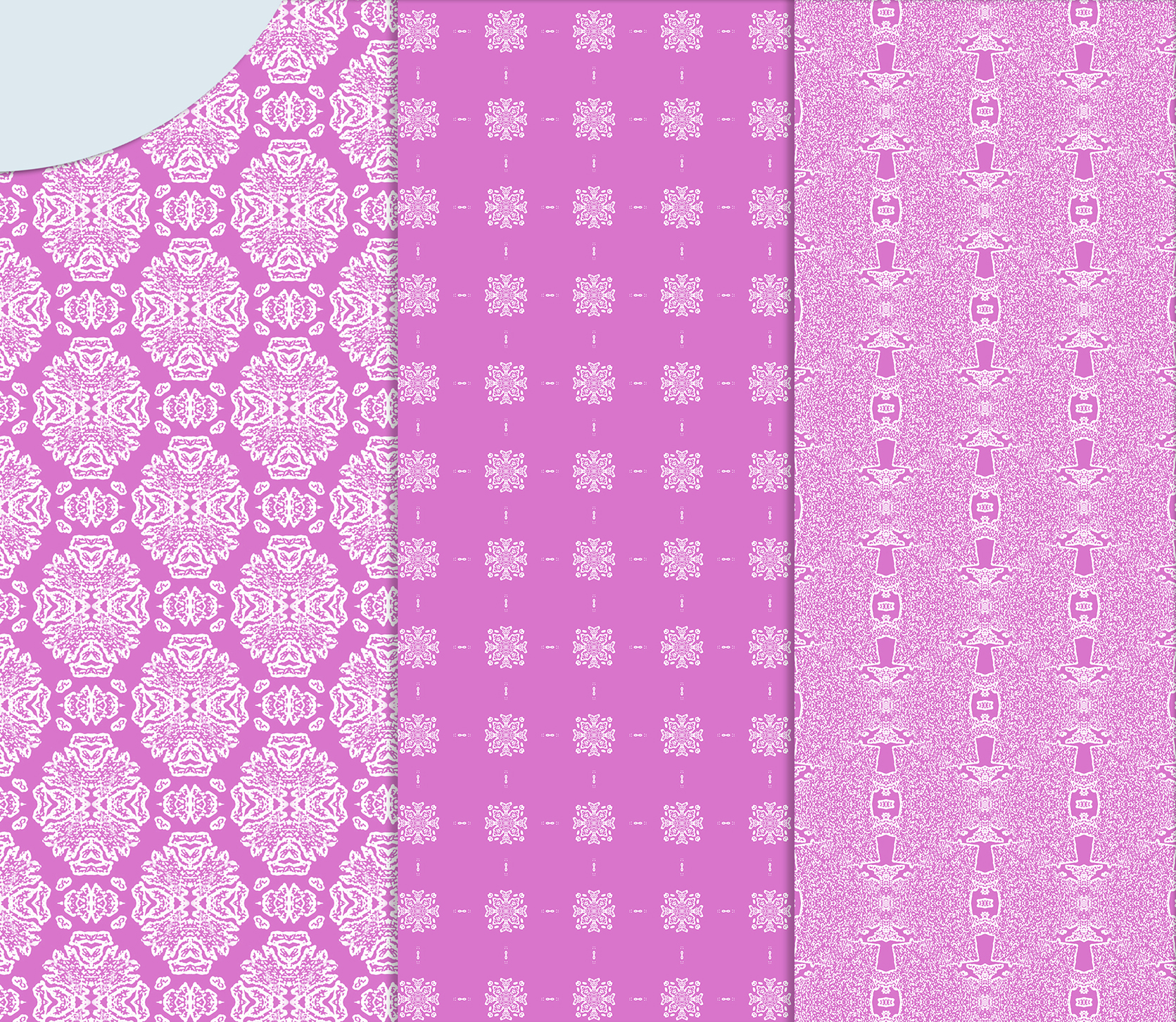 Pink, gentle, abstract and geometrical Scrapbook Paper example image 3