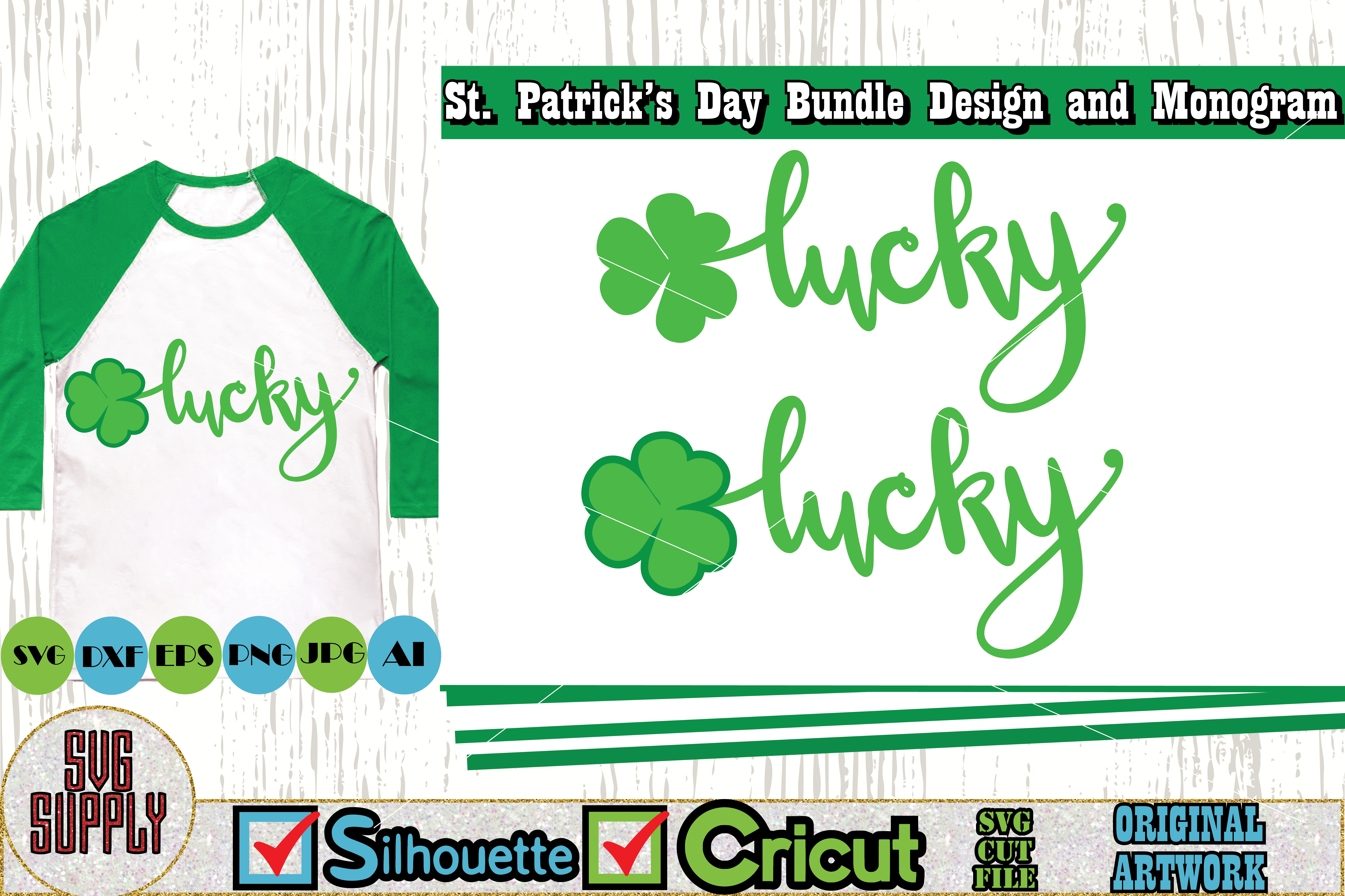 St. Patrick's Day SVG Cut File Set example image 6