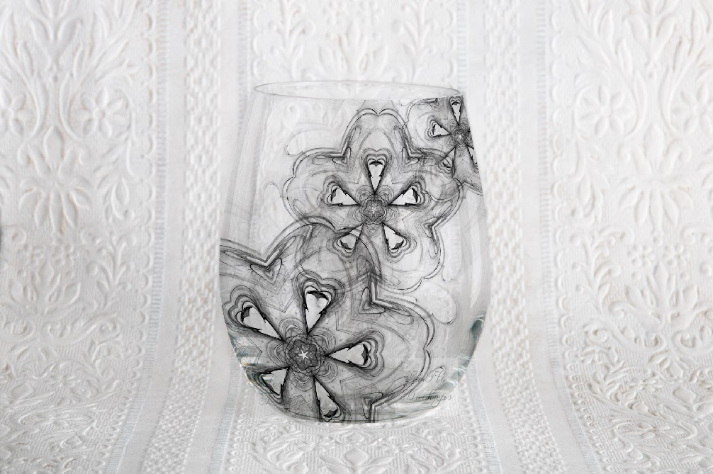 Stemless wine glass mockup no stem glasses mock up wineglass