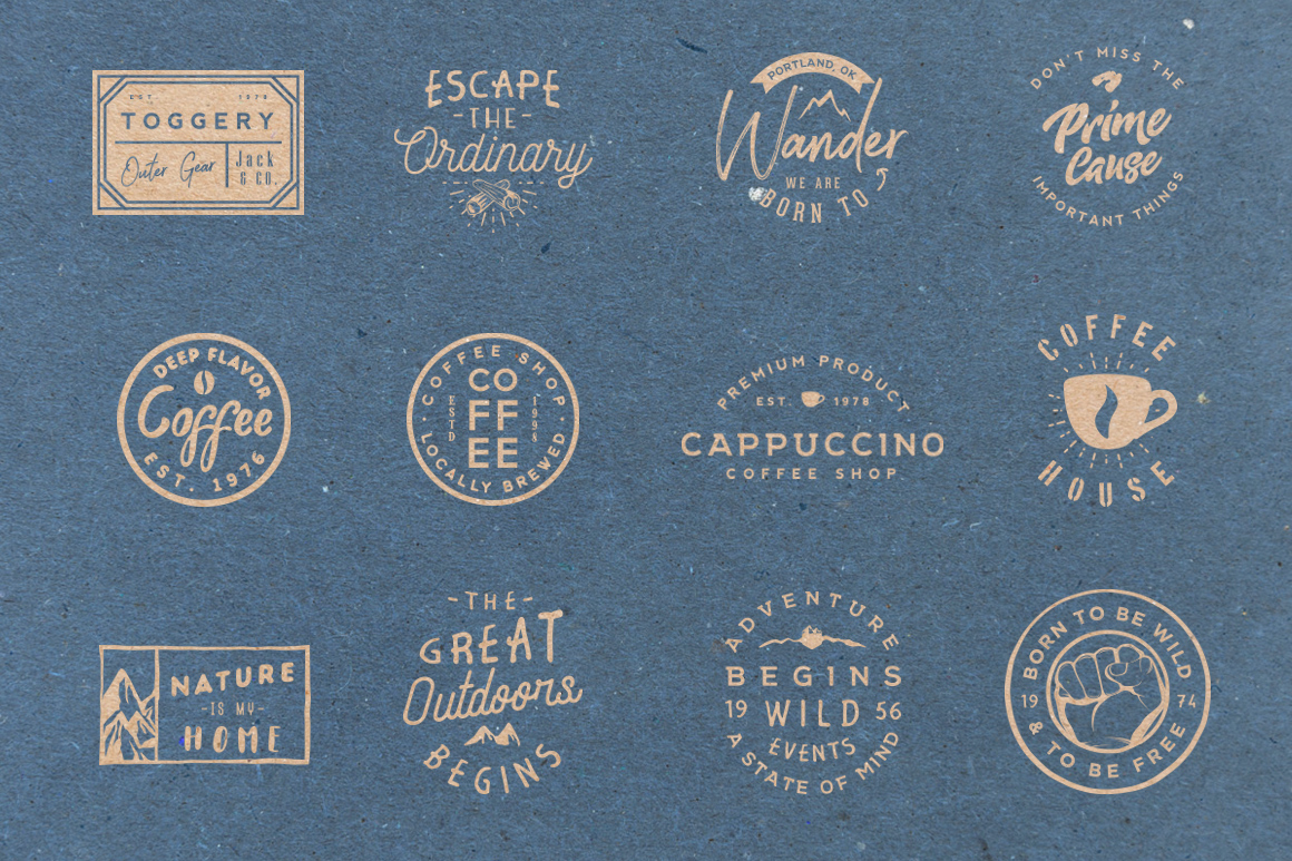 Vol.3 | 20 Retro Badges Templates example image 8