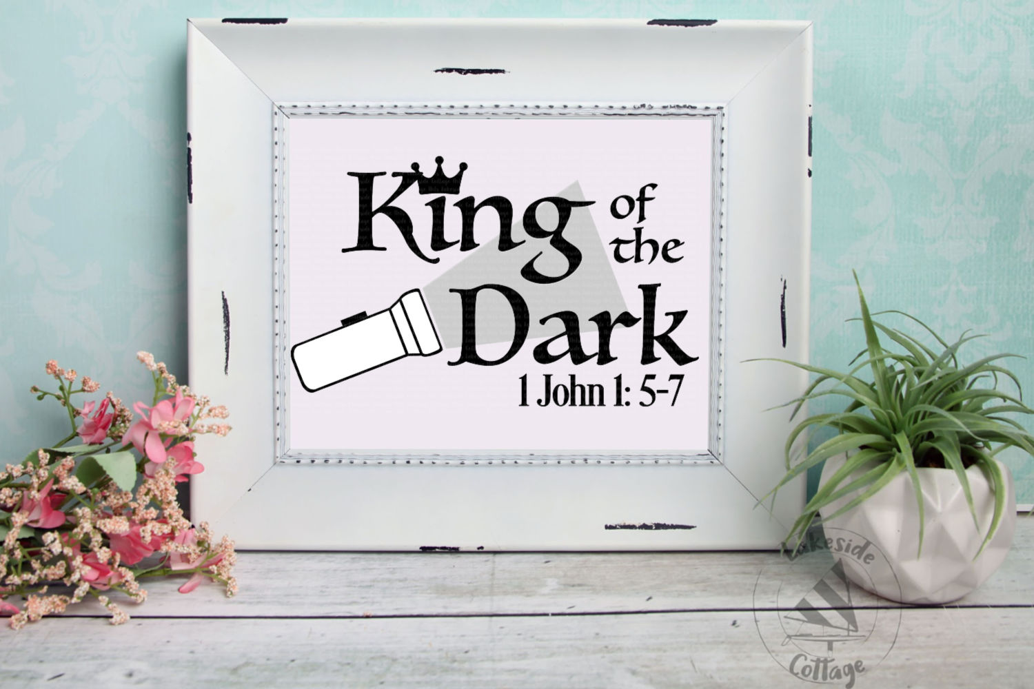 King of the Dark Religious Christian Bible SVG Design example image 3