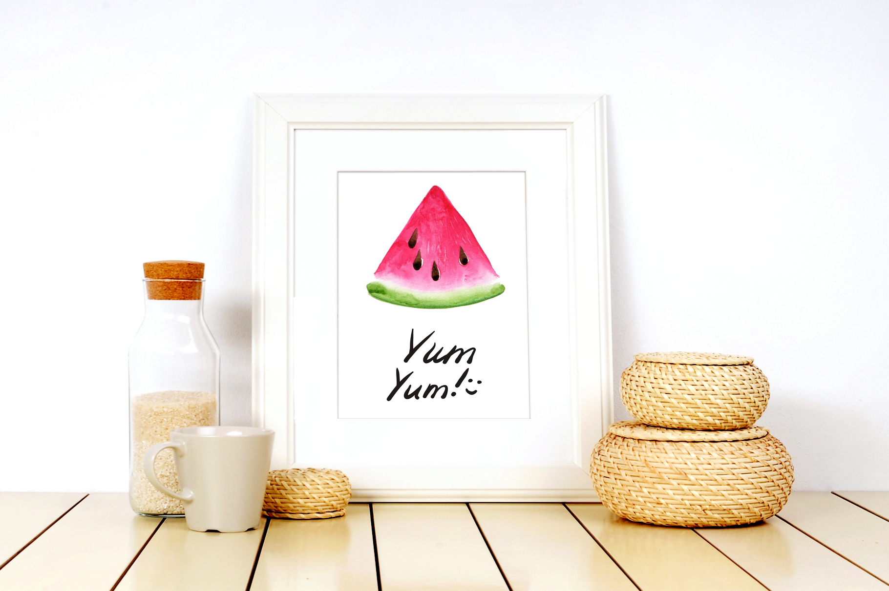 Fruits watercolor collection example image 13
