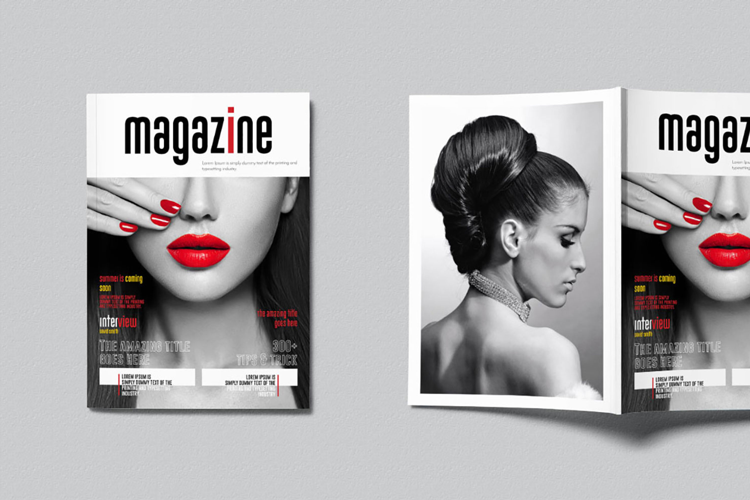 InDesign Multiple Magazine Layout example image 2