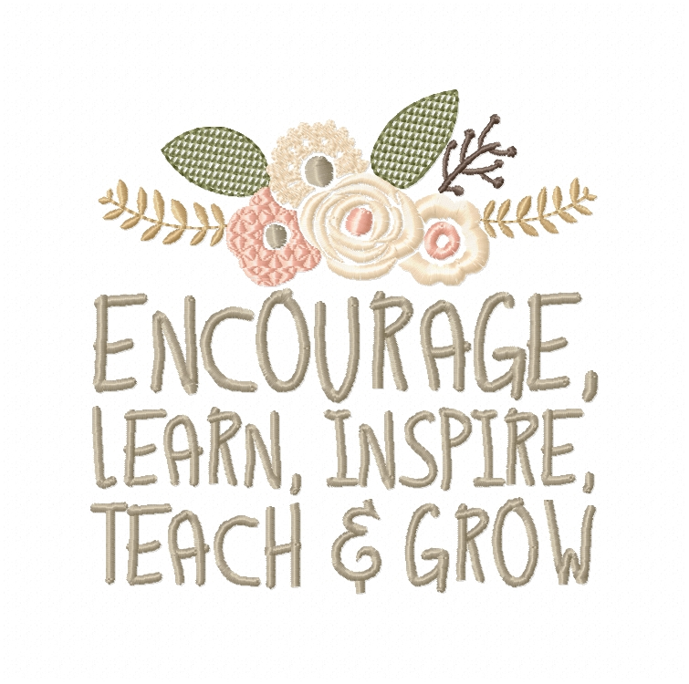 Teachers Day, Thank You Teacher, Quote for Teacher Embroidery Design Instant Download Digital File Hoop 4x4 5x7 6x10 example image 4