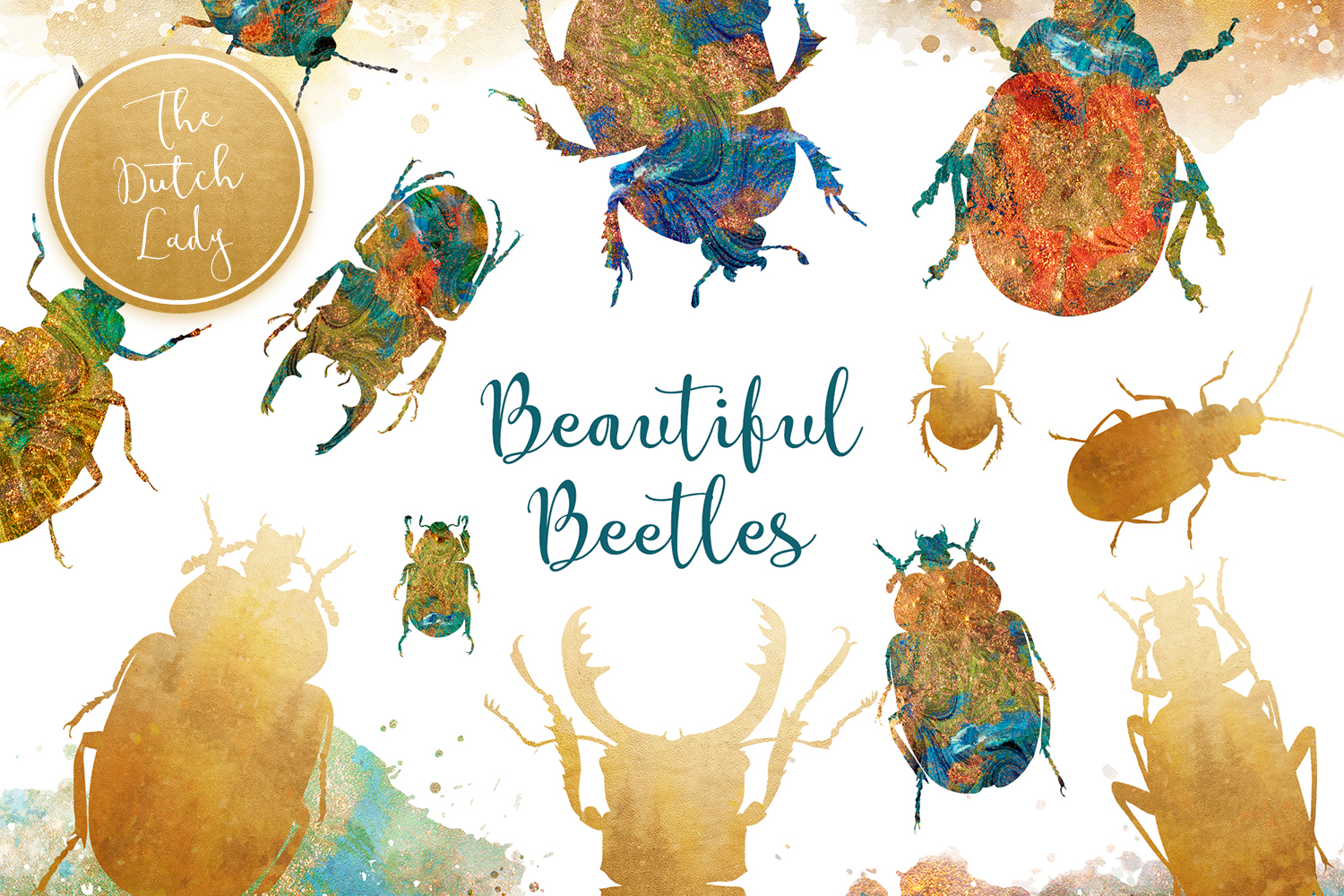 Scarabs & Beetles Clipart Set example image 1