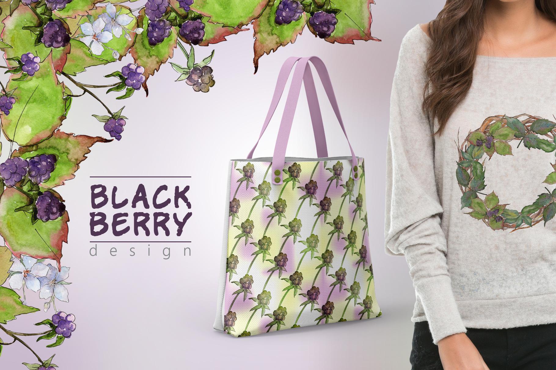 Sweetly blackberry JPG watercolor set  example image 5