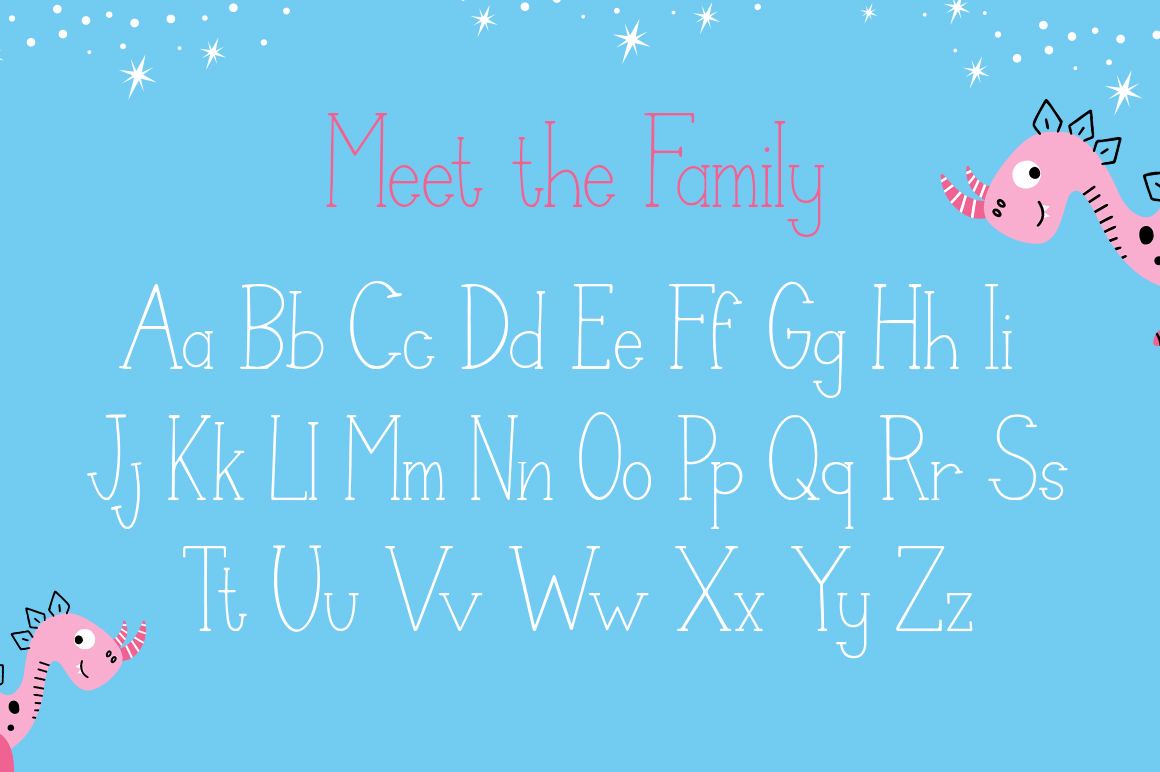 Dino Friends Font example image 4
