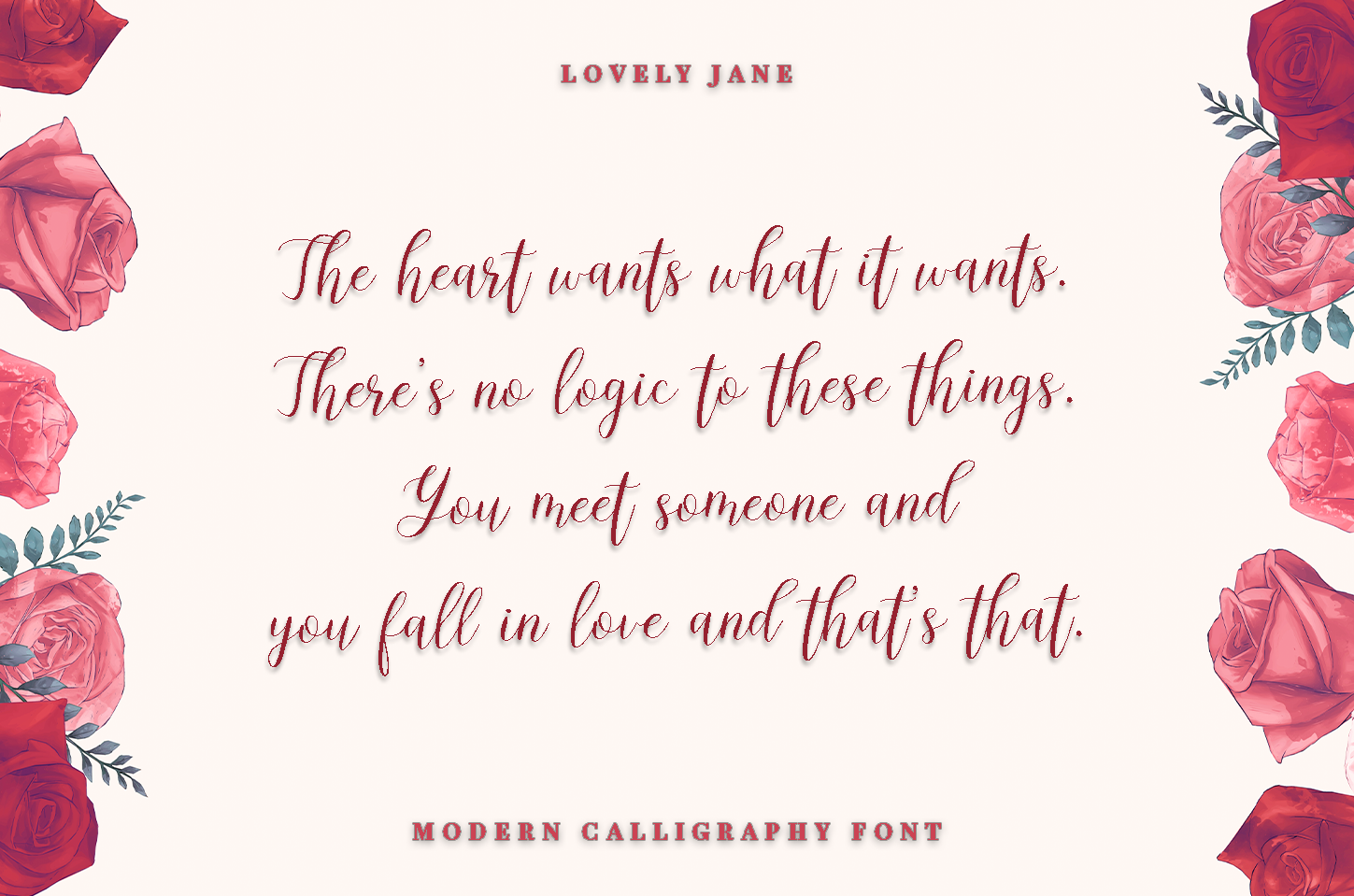 lovely Jane - Modern calligraphy font example image 4