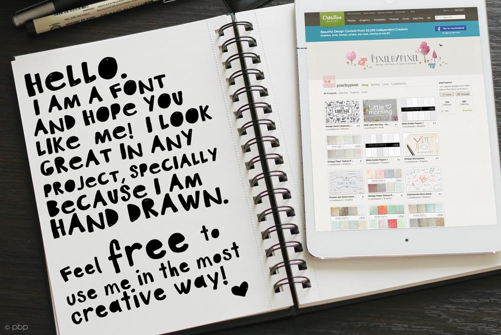 Art Plot Bold Hand Drawn Font example image 3