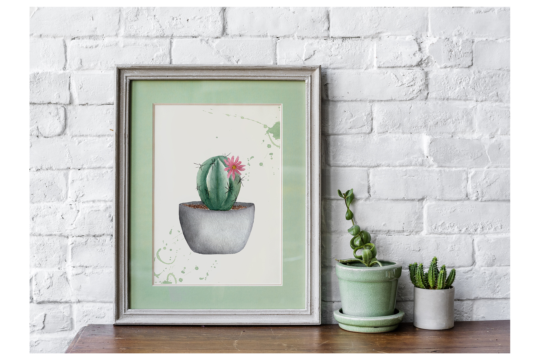 Watercolor Cactus Shop example image 6