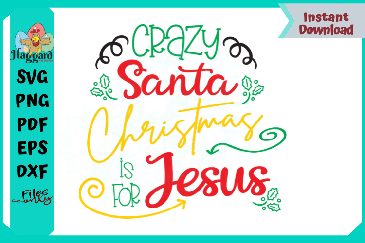 Crazy Santa Christmas is for Jesus example image 2