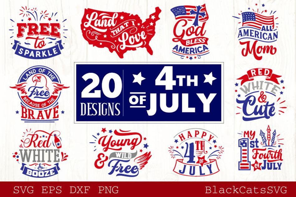 Fourth of July SVG Bundle 20 Designs example image 1