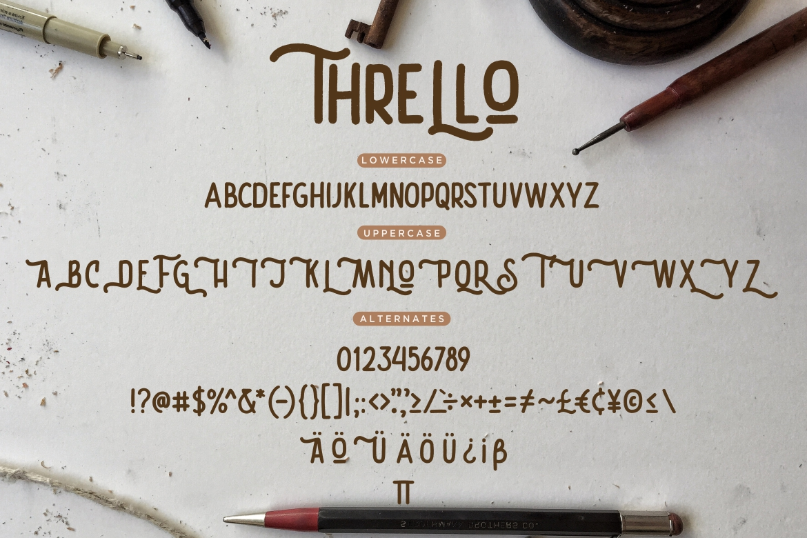 Thrello Monoline Brush example image 7