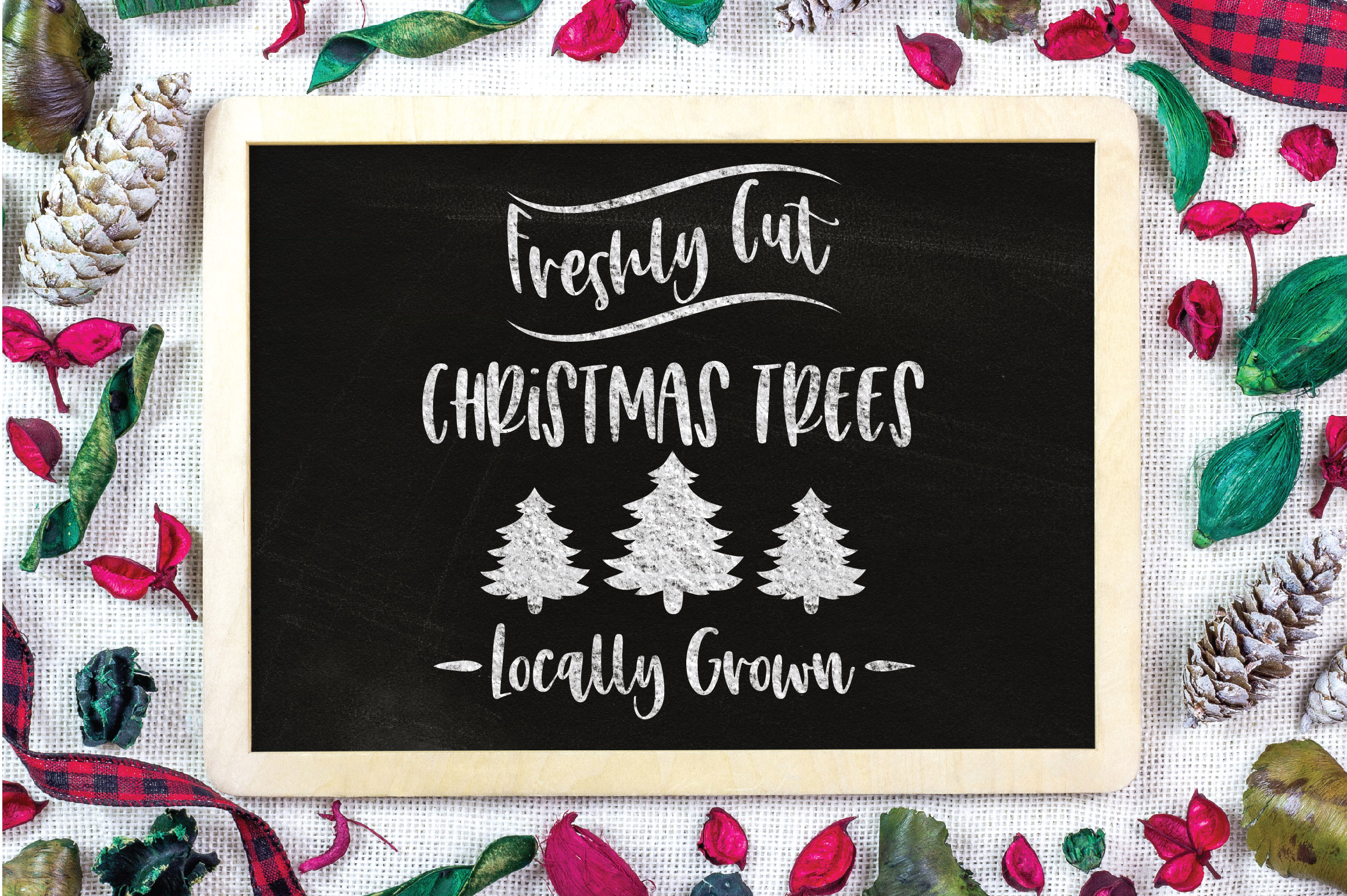 Christmas SVG Cut File - Freshly Cut Christmas Trees SVG DXF example image 3