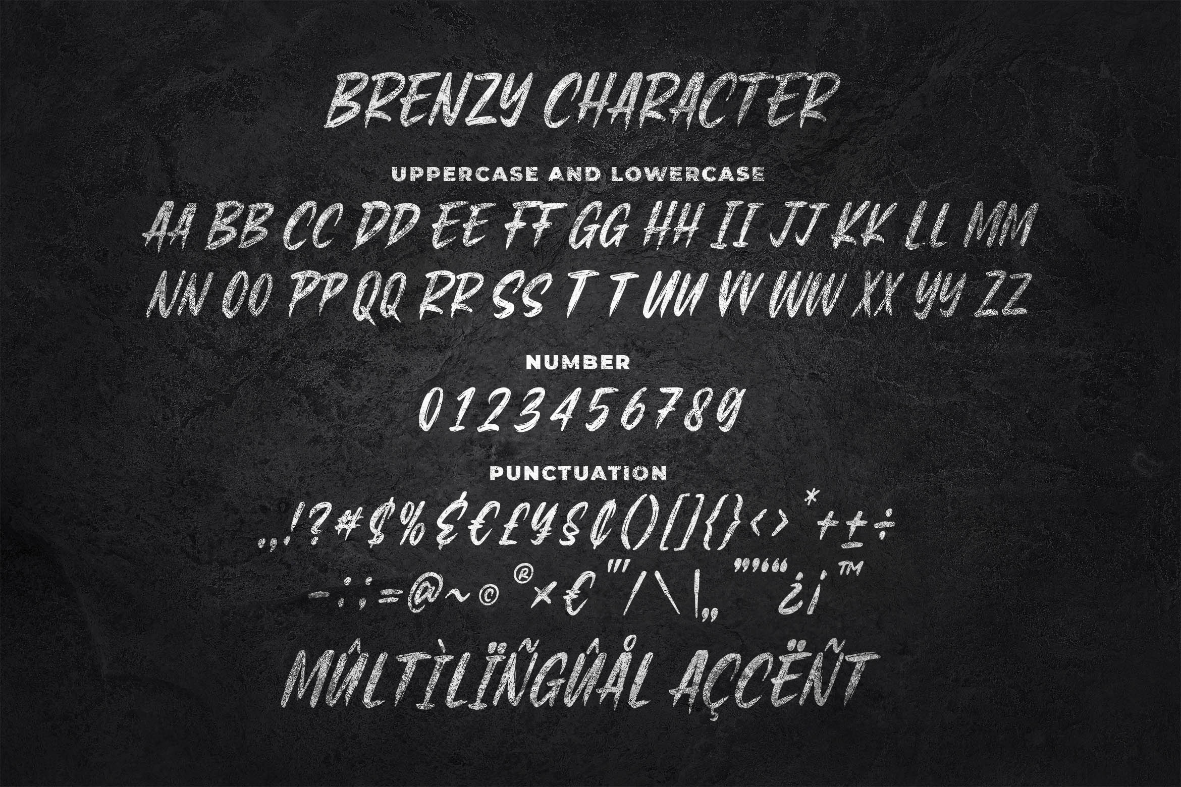 Brenzy - Wild Brush Font example image 2