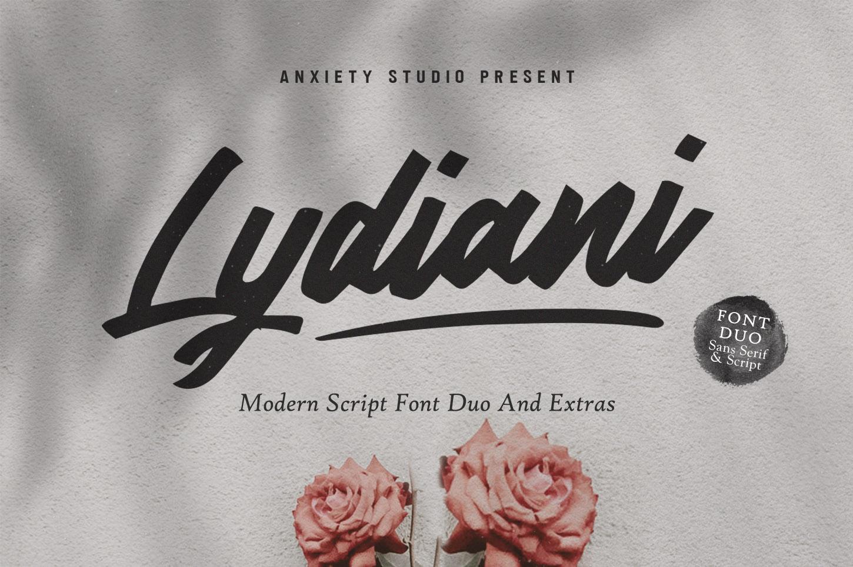 Lydiani Typeface // Font Duo example image 2