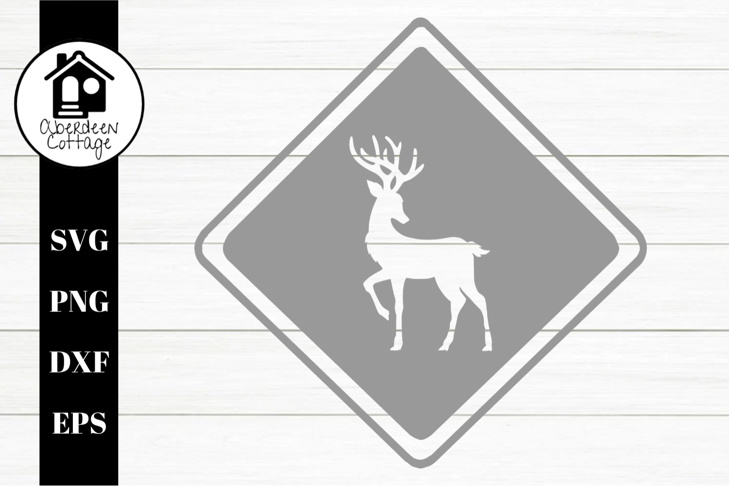 Reindeer Cut Out SVG| PNG | EPS | DXF example image 1