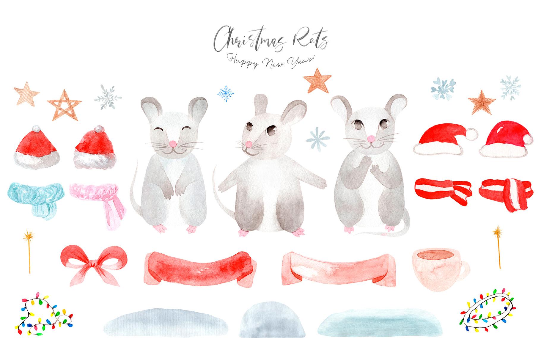 Christmas Rats. Symbol 2020 New Year example image 2