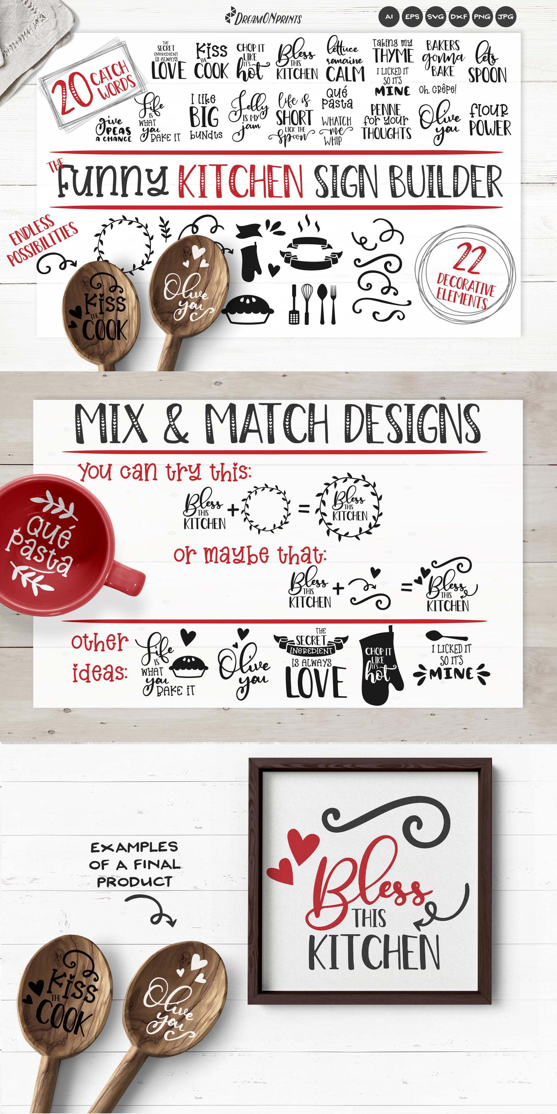 Kitchen SVG Bundle | Funny Kitchen Sign Builder example image 2
