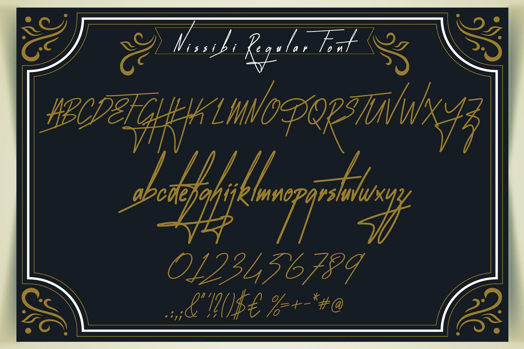 Nissibi Regular Signature Font example image 11