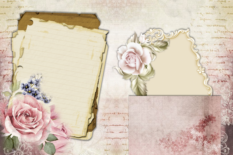 Printable Journaling Kit Victorian with FREE EPHEMERA cu example image 8