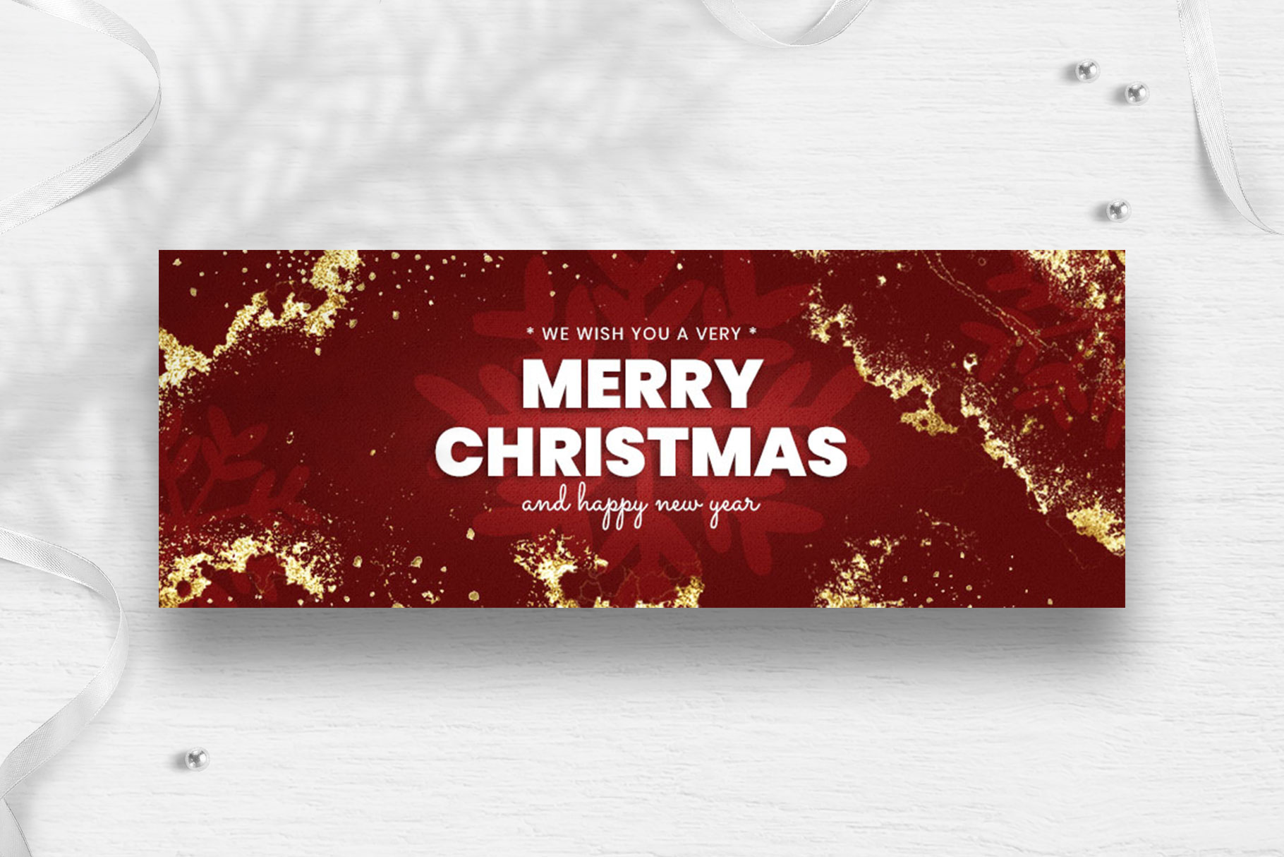 Merry Christmas Facebook Cover Template example image 4