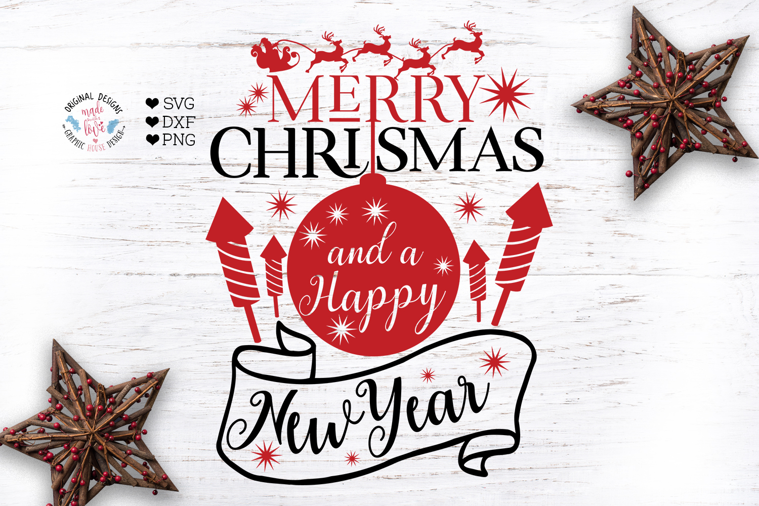 A Merry Christmas Cut Files Bundle example image 9