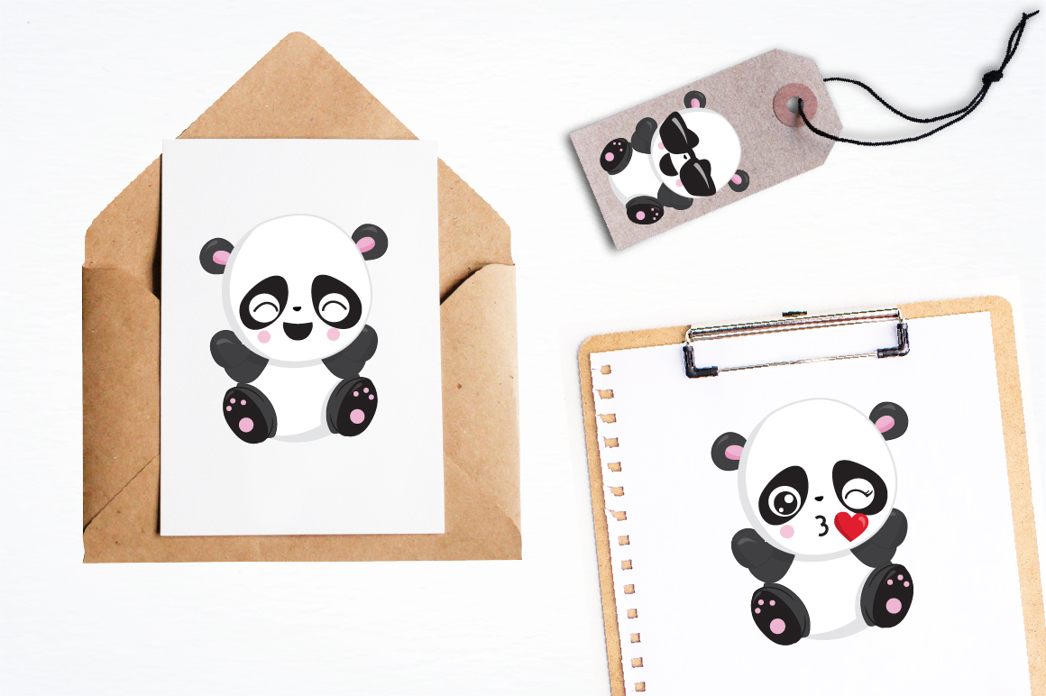 Panda friends graphics and illustrations example image 4
