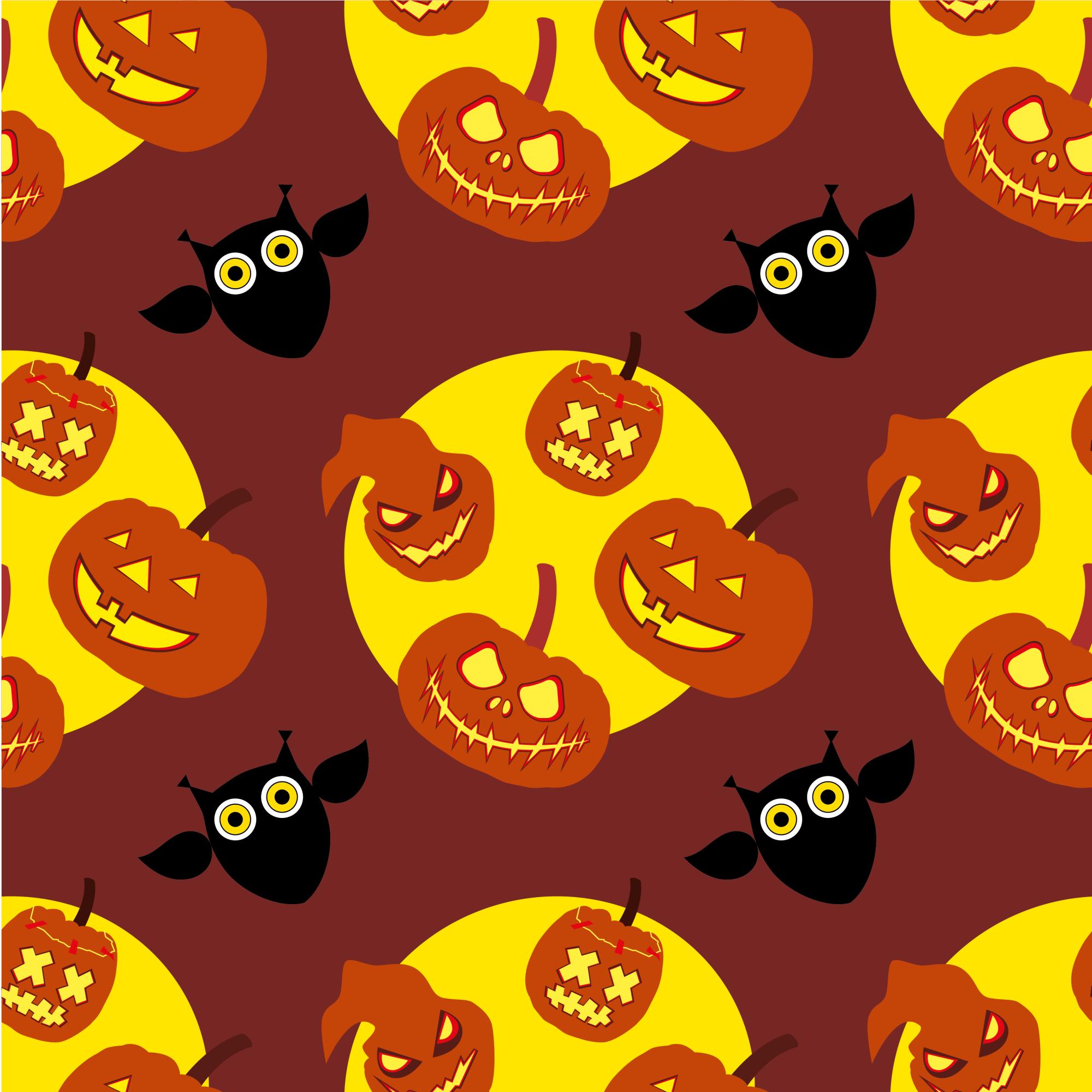 Set of 12 seamless vector backgrounds Happy Halloween.  example image 3