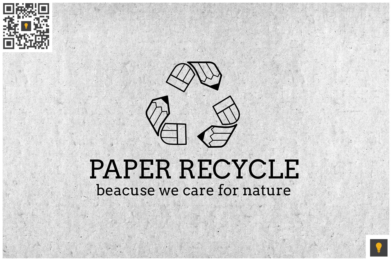 Paper Recycle Logo Black