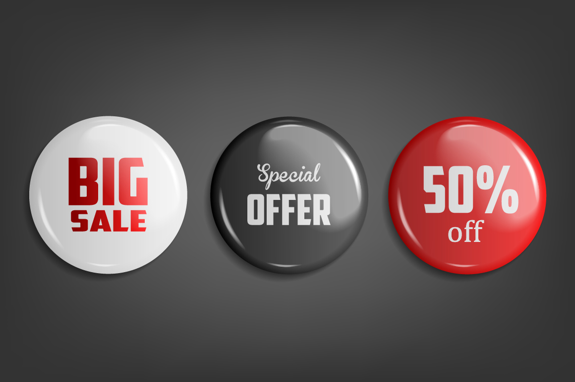 Sale Badges. 3 Colors example image 1