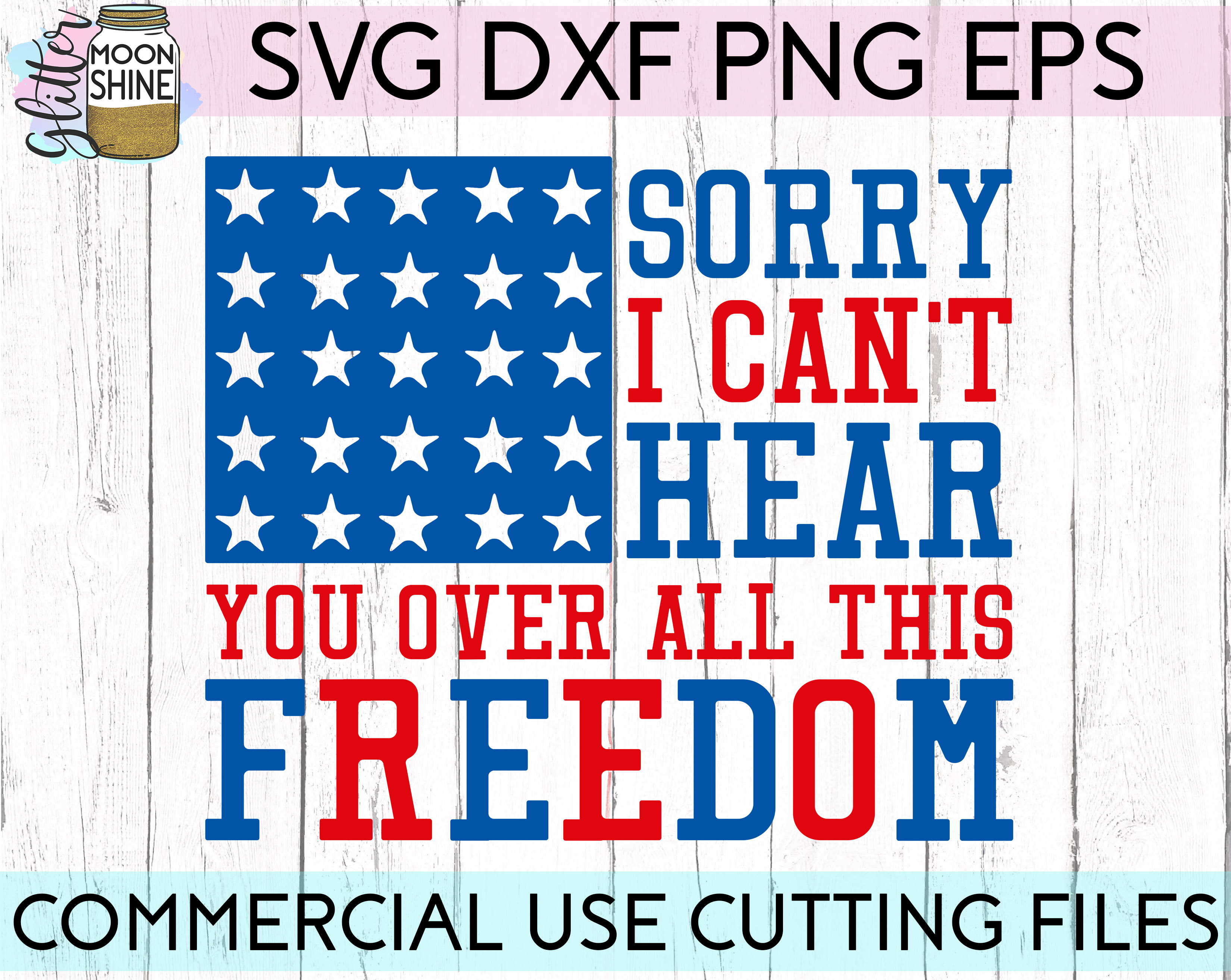 Huge 4th Of July Design Bundle of 23 SVG DXF PNG EPS Cutting Files example image 15