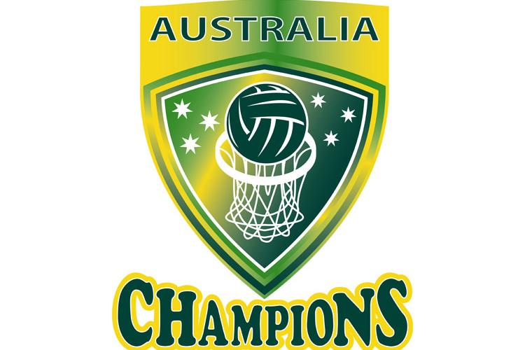Netball Ball Hoop champions Australia shield example image 1