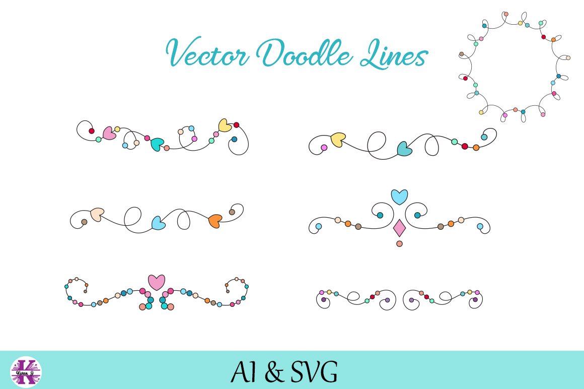 Vector Doodle lines/Borders/Dividers example image 1
