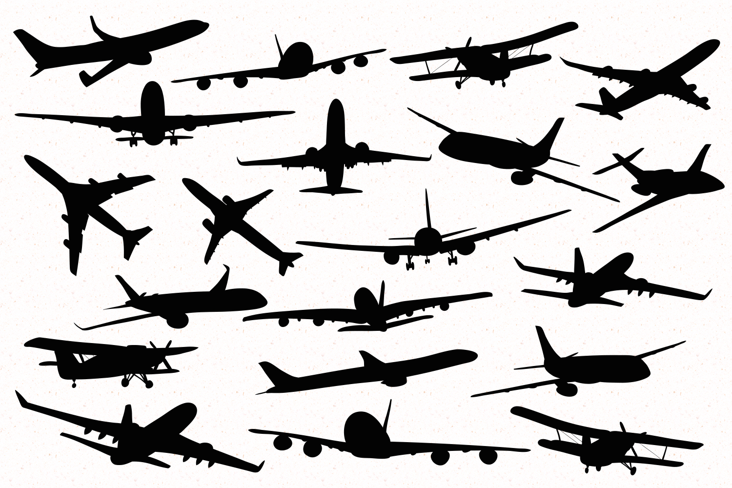Airplanes Silhouettes example image 2